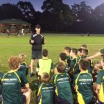 Ryan Meldrum at Willoughby Wildcats Training